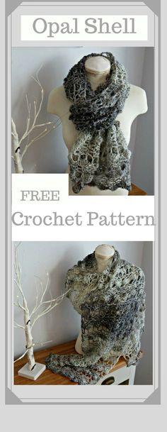 Opal Shell from Crochet247 #CrochetScarf