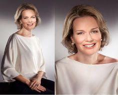 Nuevo posado oficial de Matilde de Bélgica, con motivo de su 40º cumpleaños #mathilde #belgium #princess #royals #royalty #realeza #royal