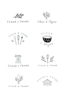 Illustrated logo design by Ryn Frank Design www. Best Picture For app Logo Design For Your Taste You are looking for something, and it is going to tell you exactly what you are looking Cake Logo Design, Food Logo Design, Logo Food, Graphic Design Branding, Minimal Logo Design, Logo Branding, Bakery Branding, 2 Logo, Logo Inspiration