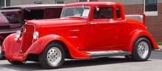 1934 plymouth coupe | 1934 Plymouth Coupe - Red - Rumble Seat - Side Angle