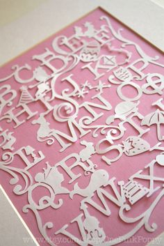 "Hand cut Alphabet paper cut perfect for Nursery Art ""N is for nothing"" via Etsy."