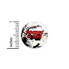 Hockey Is Life Fan Button // Pinback for Backpack or Jacket // Hockey Fan Gift Pin 1 Inch Work Jokes, Work Humor, Fan Gif, Funny Buttons, Hockey Gifts, Work Gifts, Cool Backpacks, Jacket Buttons, Pinback Buttons