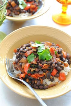Simple Black Beans and Rice by @Beverly Weidner of Bev Cooks