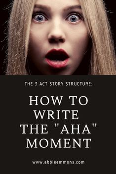 "How to Write The ""Aha"" Moment (The Most Important Part of Your Story) Book Writing Tips, Creative Writing Prompts, Writing Words, Fiction Writing, Writing Workshop, Teaching Writing, Book Works, Writers And Poets, Writing Worksheets"