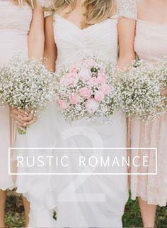 DIY Rustic Romantic Wedding Bouquet // Roses & Baby's Breath