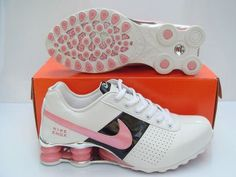 Damer White Black Pink Nike Shox OZ Sko 70291