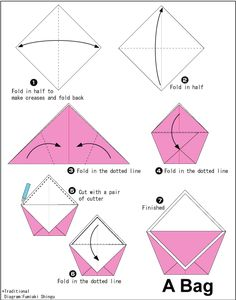 Origami Bag for bulk candy in pinata