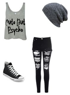 """""""Out at night"""" by anaf02216 ❤ liked on Polyvore featuring Glamorous and Converse"""