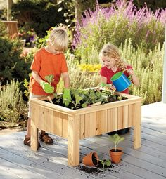 KIDS LOVE to garden-it teaches them where their food comes from.This tool set and planter will give little ones their own space to manage while you tackle the bigger projects in the yard.  Need to do this so the boys stay out of my garden :)