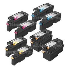 8pk BLACK Color Printer Laser Toner Cartridge for Dell C1765nfw 1355cn 1355cnw