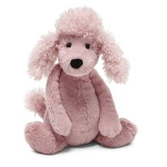 "Jellycat Bashful Poodle Medium 12"""""