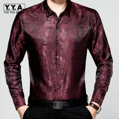 >> Click to Buy << 2017 New Arrival Mens Leisure Long Sleeves Spring Silk Thin Shirts For Male Business Gentlmen Classic Floral Printing Homme Tops #Affiliate