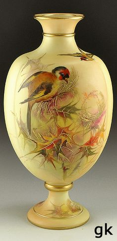 Hand Painted Vase Granger, c.1880