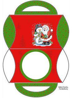 Só imprimir e montar sua caixinha de Natal