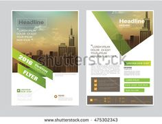 corporate brochure flyer design layout template in A4 size, modern style.vector