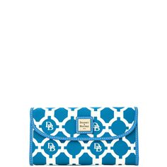 Dooney & Bourke | Sanibel Continental Clutch | One of our most popular wallets, the Continental Clutch gets a makeover in this breezy geometric print on coated canvas.
