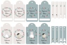 [DIY Christmas] 20 sheets of labels to print for free - MamanDIY Noel Christmas, Xmas, Christmas Preparation, Tag Design, Diy Weihnachten, Christmas Printables, Soft Colors, Sticker Paper, Diy Crafts To Sell