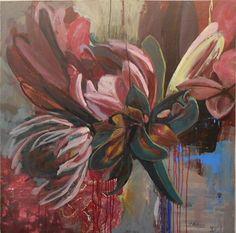 artSPACE durban artworks: Janine Holloway -Acrylic on board Protea Art, Protea Flower, Flower Art, Art Flowers, Trending Art, South African Artists, Art Thou, Trees To Plant, Art Projects