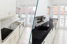 Küchenrenovierung Led Spots, Kitchen Island, Bathtub, Home Decor, Old Kitchen, Remodels, Set Of Drawers, Simple, Island Kitchen