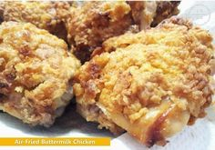 Air-Fried Buttermilk Chicken: