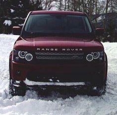 Maroon Range Rover!