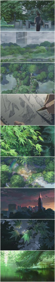 The Garden Of Words by 新海诚 // one of the most beautiful animes I ever have seen. So beautiful.