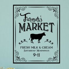 Found it at Wayfair - Farmer's Market Vintage Country Kitchen Wall Decal