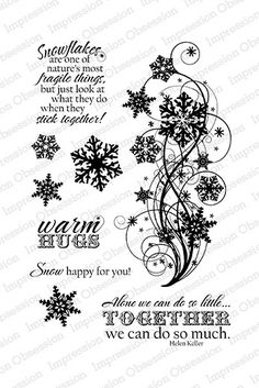 Snow Flourish - Clear Stamp