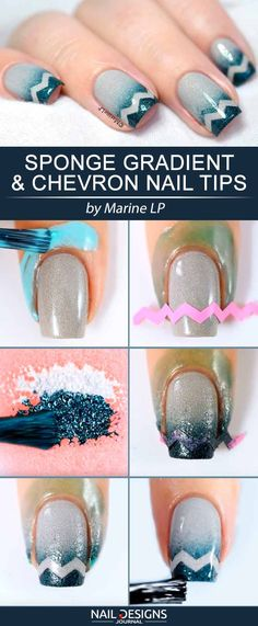 Have you ever thought about trying your hand at nail art? What we suggest you here will totally amaze you! Creating your own look and getting creative? Simple Nails Design, Nail Design Spring, Fancy Nails, Trendy Nails, Diy Nails, Do It Yourself Nails, Chevron Nails, Latest Nail Art, Super Nails