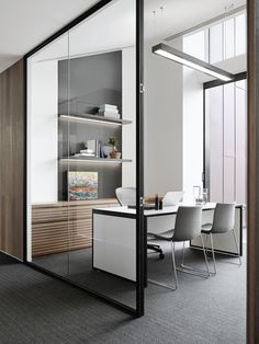 Executive offices are spacious and feature custom- made desks and Catifa chairs from Stylecraft #executiveofficedesigns
