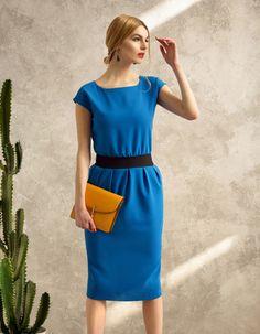 Sukienka niebieska Mono Voyage