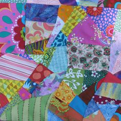 FREE PIECED FABRIC MAKING   OK players!  Got your bin of scraps?   Here's a step by step of 15 minutes of play...  Put those strips of fabr...