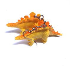 Your place to buy and sell all things handmade Dinosaur Earrings, Funky Earrings, Upcycle, Dinosaur Stuffed Animal, Toys, Crafts, Handmade, Stuff To Buy, Jewelry