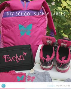 Labelling School Supplies with Heat Transfer Material | Martha Clyde for Silhouette