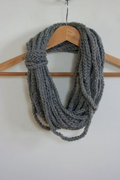 Gray Chains Loops Neck Warmer