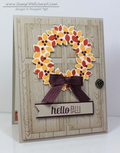 Wondrous Wreath - Stampin' Up! - Stamp With Amy K