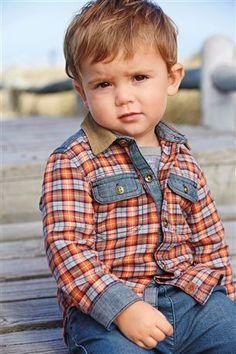 84b862c26ad88 Buy Orange Check Shirt from the Next UK online shop. Diy CamisaPantalones  De MezclillaCamisa InfantilModa InfantilCamisas Para NiñasVestidos ...