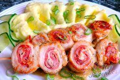 Kuřecí šneky na špejli s bramborovou kaší | NejRecept.cz Poultry, Sushi, Shrimp, Chicken Recipes, Easy Meals, Turkey, Cooking Recipes, Treats, Food And Drink