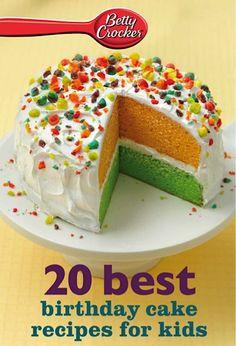 Bargain e-Cookbook: 20 Betty Crocker Best Birthday Cakes Recipes for Kids {99 cents!}