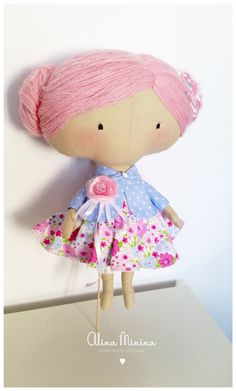 Tilda sweetheart doll, hand made, textile toys and dolls, by Alina Minina