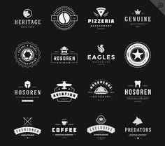 16 Vintage Logotypes or Badges by Vasya Kobelev on Creative Market