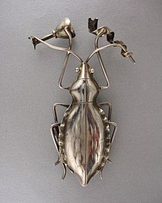 Party Beetle Pin by jewelrycollectibles on Etsy, $180.00. Listening to Beatles music, no doubt.