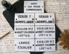 Vintage French enamel sign  Antique enameled plate by LaBelleVille