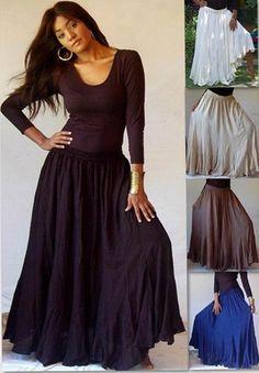 Ruffle Hem Bias Cut Chiffon Maxi Skirt