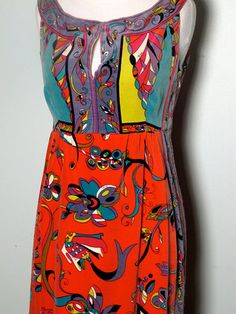 Vintage Pucci Dress from 1960s. Velour. Neiman Marcus Trophy Room on label -$3,000 on ebay ... Jan 2013