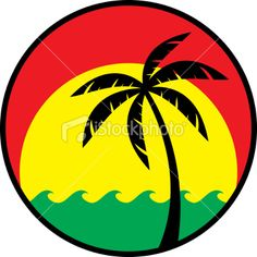 red green and yellow tropical rasta logo Reggae Art, Reggae Style, Reggae Music, Bob Marley, Rastafarian Culture, Rasta Art, Fox Tattoo Design, Jamaica Reggae, Rasta Colors