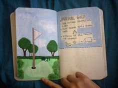 My wreck this journal - journal golf - am going to rip half the page instead of the whole page, which helps my paper chain page :)