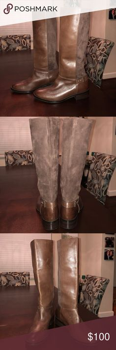 NWT Cole Haan Brown Riding Boots Tall Boots These boots are absolutely gorgeous!! The gold hardware accents make for a very classy feel. Cole Haan Shoes Heeled Boots