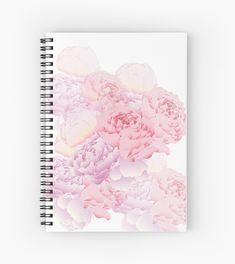 Peonies spiral notebook #redbubble #peonies #pastell #school #notebook #spiralnotebook #sketchbook #sketches