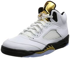 timeless design 87164 ede14 Nike Mens Air Jordan 5 Retro Olympic White BlackMetallic Gold Leather Size  11    Continue to the product at the image link. (This is an affiliate link)
